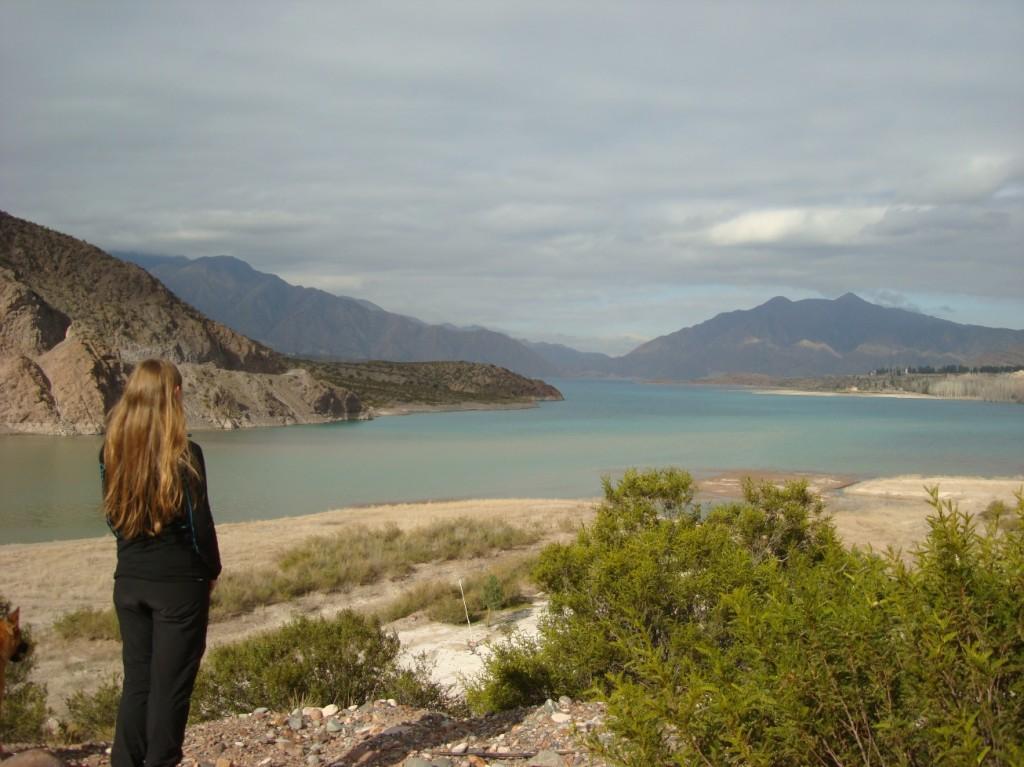 Vue sur le lac de Potrerillos