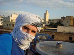 J'avais juste envie de mettre ma tête cachée qui m'a valu dans la médina le surnom de Sahara Man