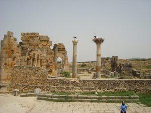 Une partie infime des ruines Romaines de Volubilis